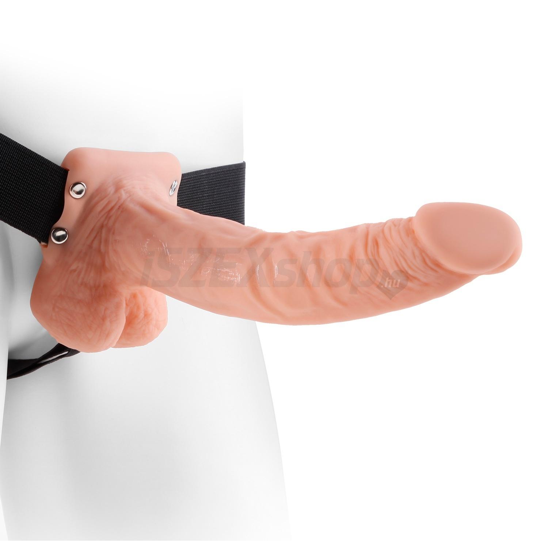 Felcsatolható pénisz férfiaknak és nőknek, üreges Hollow Extender felköthető dildó