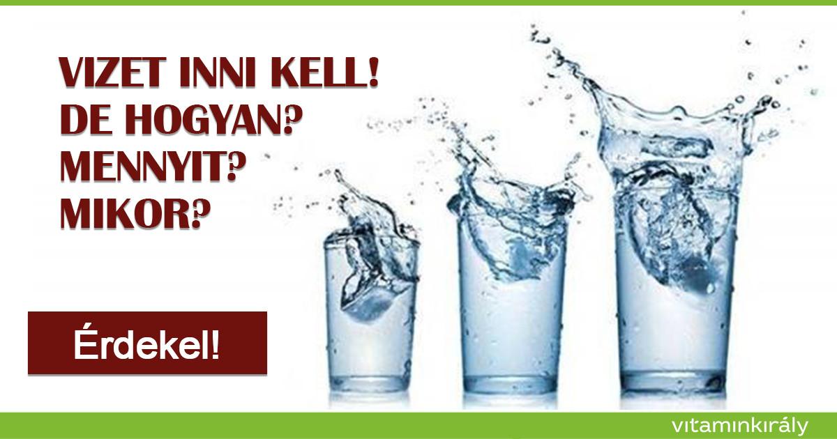 Mikor kell a nap folyamán vizet inni?