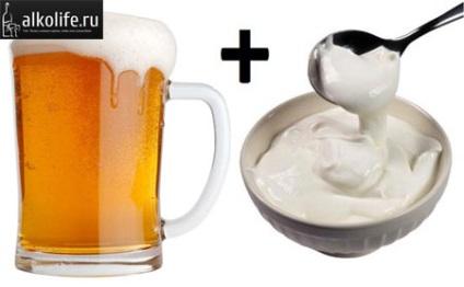 tejfölt és sört erekcióhoz
